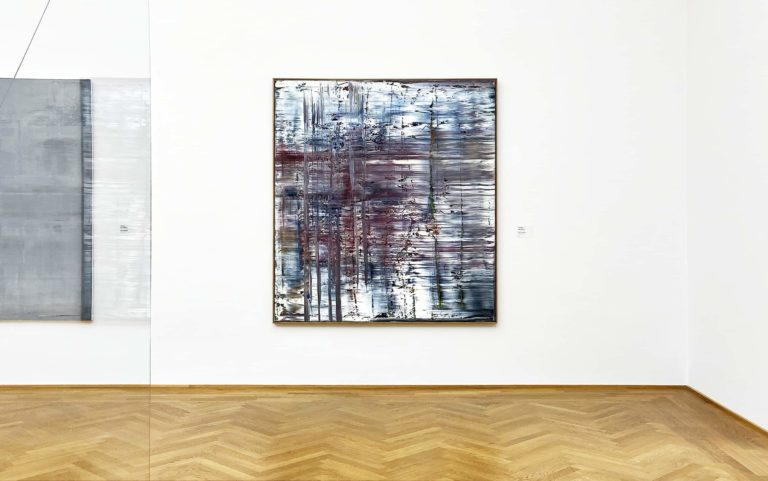 A painting by Gerhard Richter in the exhibition of the Albertinum in Dresden, Germany
